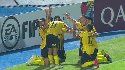 Os gols de Guarani 2 x 0 Bolivar pela Taça Libertadores