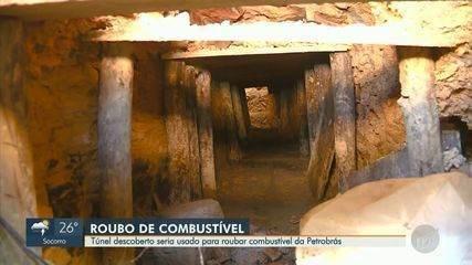 Polícia investiga túnel descoberto que seria usado para roubar combustível da Petrobrás
