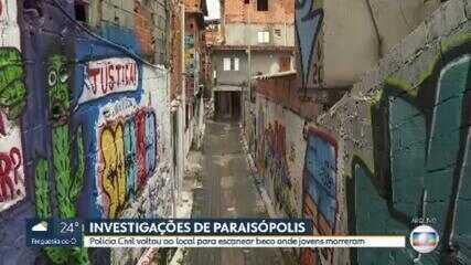 Polícia Civil volta ao local para escanear beco em Paraisópolis onde jovens morreram