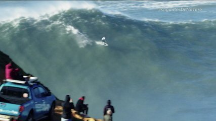 Gigantes de Nazaré: ex-BBB participa de desafio com maiores surfistas de ondas grandes do mundo