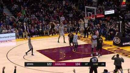 Melhores Momentos: Cleveland Cavaliers 132 x 129 San Antonio Spurs