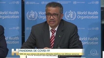 OMS declara pandemia de novo coronavírus