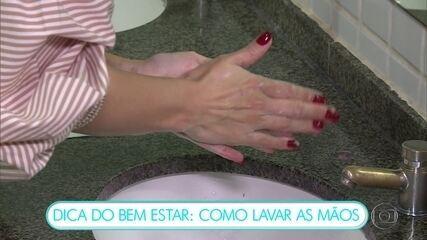 Dica do Bem Estar: como lavar as mãos na prevenção ao novo coronavírus