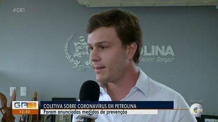 Prefeito de Petrolina convocou coletiva para anunciar medidas contra o coronavírus