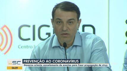 Serviços são suspensos por causa do coronavírus em Santa Catarina