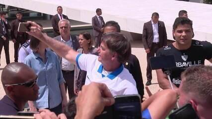 Bolsonaro sobre manifestação: 'Se eu me contaminei, é responsabilidade minha'