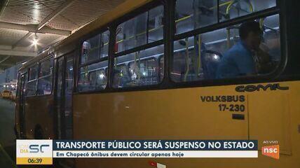 Suspensão do transporte coletivo passa a funcionar a partir de quinta em Chapecó