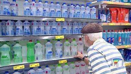 Procura alta consome estoque de álcool em gel nas lojas em Taubaté