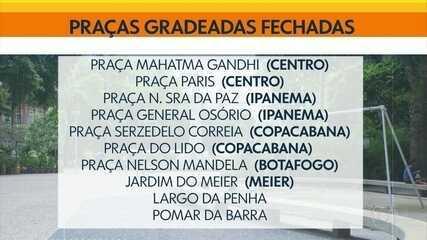 Prefeitura do Rio fecha 24 praças da cidade