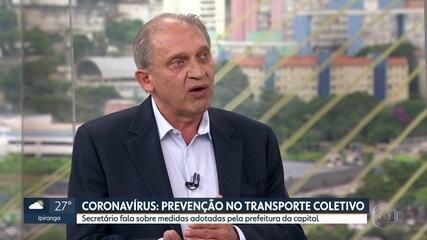 Combate ao novo coronavírus no transporte coletivo