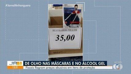 Fiscais flagram preços abusivos em itens de proteção em Goiânia