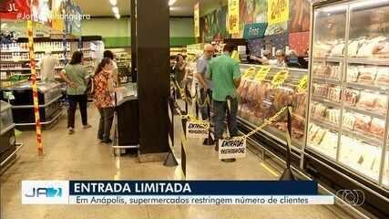 Supermercados restringem número de clientes em Anápolis