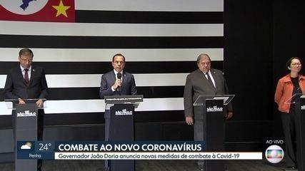 Dória anuncia novas medidas de combate ao Covid-19