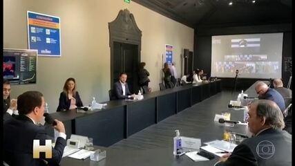 Coronavírus: Governadores do Sudeste se reúnem com Bolsonaro