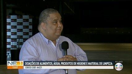 Campanha Pernambuco Solidário arrecada doações para sem-tetos e famílias mais pobres
