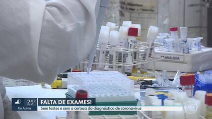 Falta de exames para o coronavírus deixa milhares sem certeza do diagnóstico