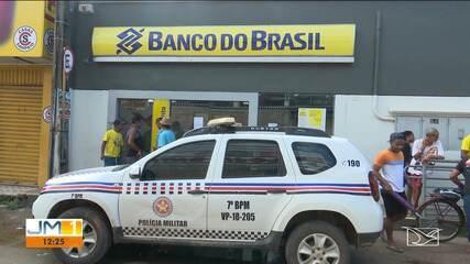 Criminosos explodem a agência bancária de Pindaré-Mirim