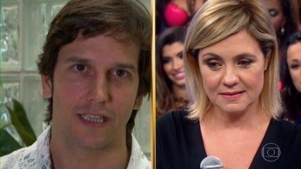 Histórias do Domingão: Vladimir Brichta, ator e marido de Adriana Esteves, manda recado para a esposa