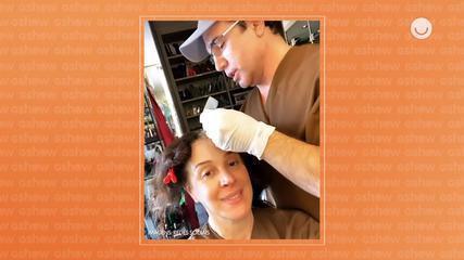 Claudia Raia conta que marido arrasa como cabeleireiro