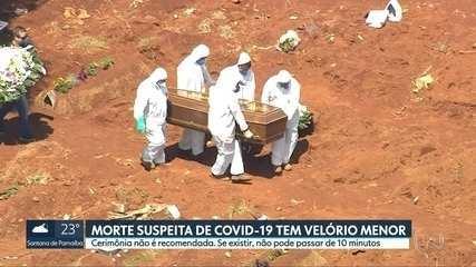 Casos suspeitos de Covid-19 têm velórios reduzidos