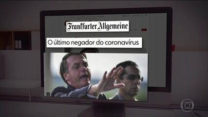 Imprensa internacional destaca postura de Bolsonaro em relação ao coronavírus
