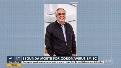 Santa Catarina registra segunda morte por coronavírus