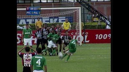 Os gols de Paulista 3 x 3 Palmeiras pela semifinal do Paulistão de 2004