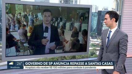 Governo de SP anuncia repasse a Santas Casas para combater coronavírus
