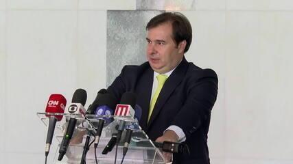Rodrigo Maia fala sobre medidas econômicas no Congresso