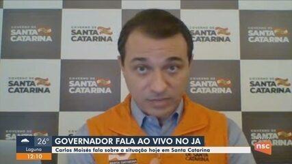 Governador Carlos Moisés participa ao vivo do Jornal do Almoço