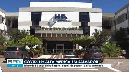 Alta de Covid-19: paciente deixa hospital após passar 15 dias internado