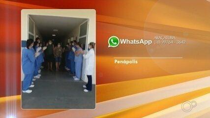 Casal é aplaudido ao receber alta de hospital após contrair coronavírus no interior de SP