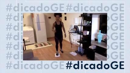 #dicadoGE: personal Eliana Santos prepara nova série de exercícios para se fazer em casa