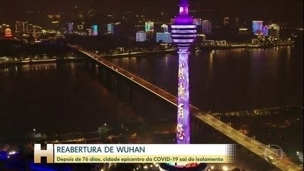 Depois de 76 dias, cidade Wuhan é reaberta