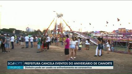 Prefeitura de Cianorte cancela festividades de aniversário da cidade
