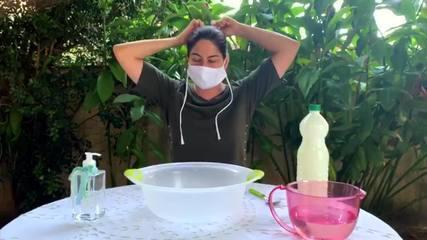 Infectologista ensina como lavar máscaras de pano caseiras