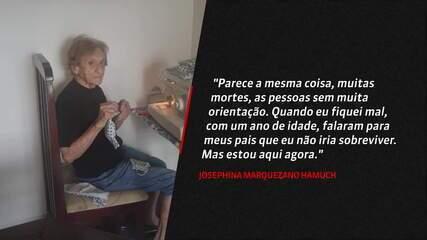 Aos 103 anos, sobrevivente da Gripe Espanhola faz máscaras para doação