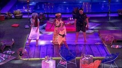 Manu comanda coreografia na Festa Luau do BBB20