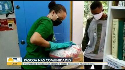 Voluntários ajudam a deixar a Páscoa nas comunidades um pouco mais doce
