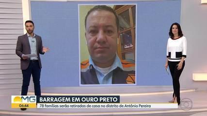 Barragem em risco: moradores são retirados de casa, em Ouro Preto