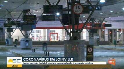 Nova decisão judicial mantém suspenso o transporte público em Joinville