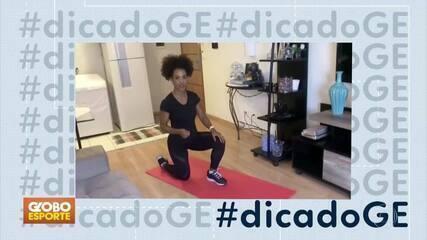 #dicadoGE: personal Eliana Santos prepara série de exercícios para treinar em casa