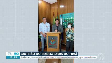 Barra do Piraí convoca voluntários para confeccionar máscaras em combate à Covid-19