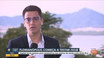 Florianópolis começa a fazer testes do coronavírus em centros de saúde e em drive-thru