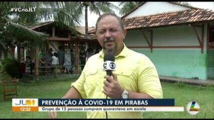 Grupo de 15 pessoas que chegou de Santa Catarina está em quarentena em São João de Pirabas