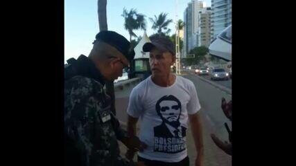 Idoso descumpre decreto, desacata policiais e é detido no Recife