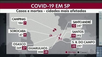 Grande SP é a região mais afetada do estado pela Covid-19 depois da capital
