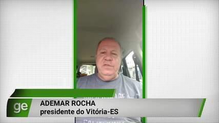 Presidente do Vitória-ES esclarece redução dos salários e extensão da quarentena