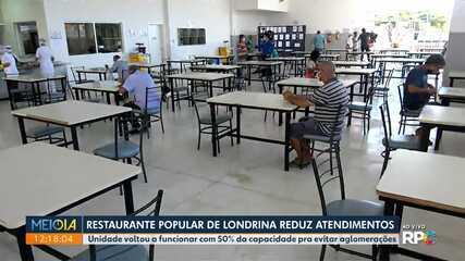 Restaurante Popular de Londrina reduz atendimento