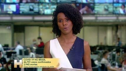 Brasil se aproxima de 3 mil mortes pela Covid-19; infectados são mais de 46 mil